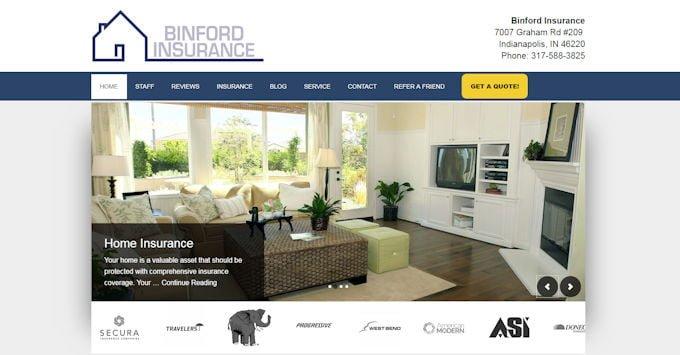 Binford Insurance Website