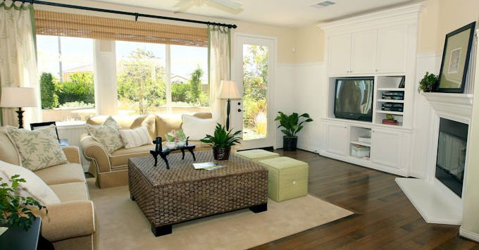 A nice living room with television