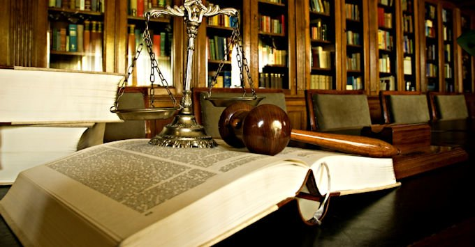 A judge's gavel on his or her desk